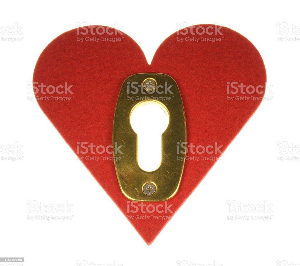 heart with lock royalty-free stock photo