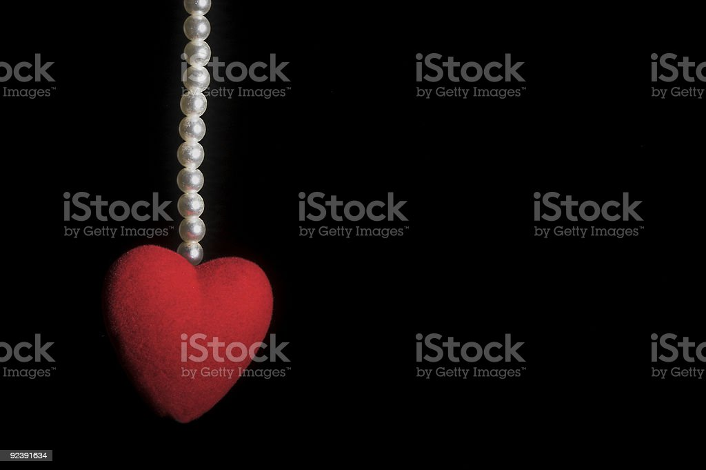 Heart with Pearls royalty-free stock photo
