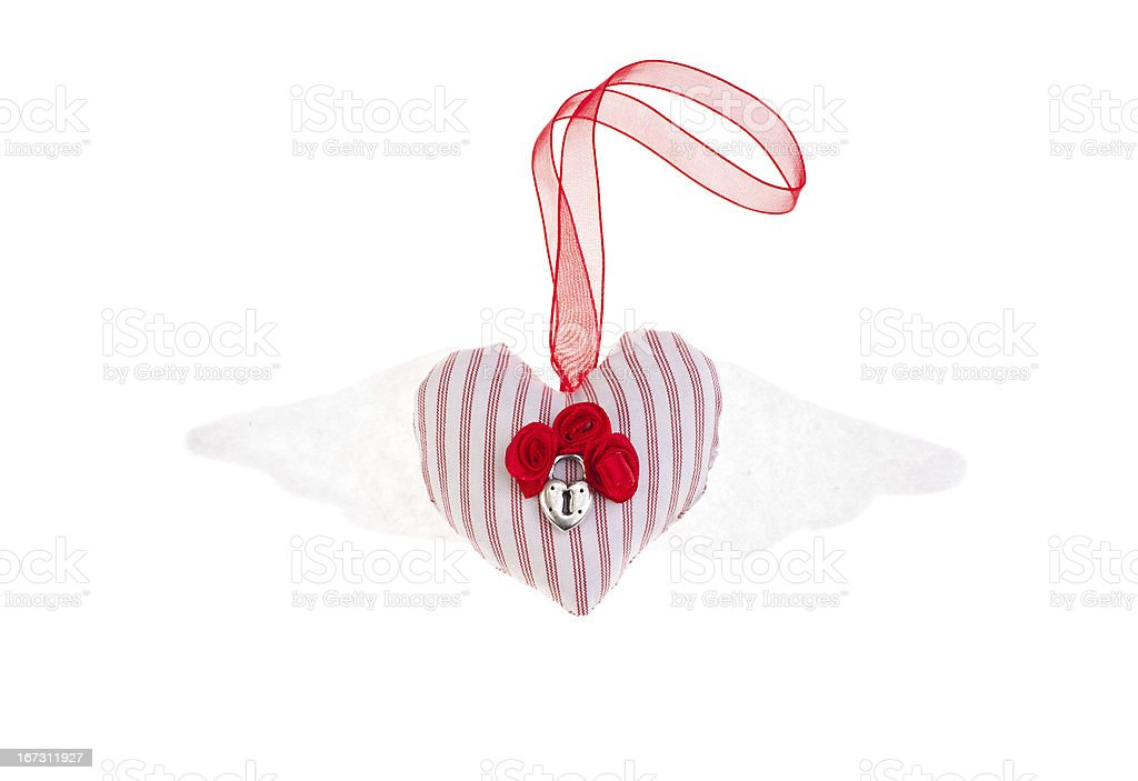 Heart with wings souvenir royalty-free stock photo
