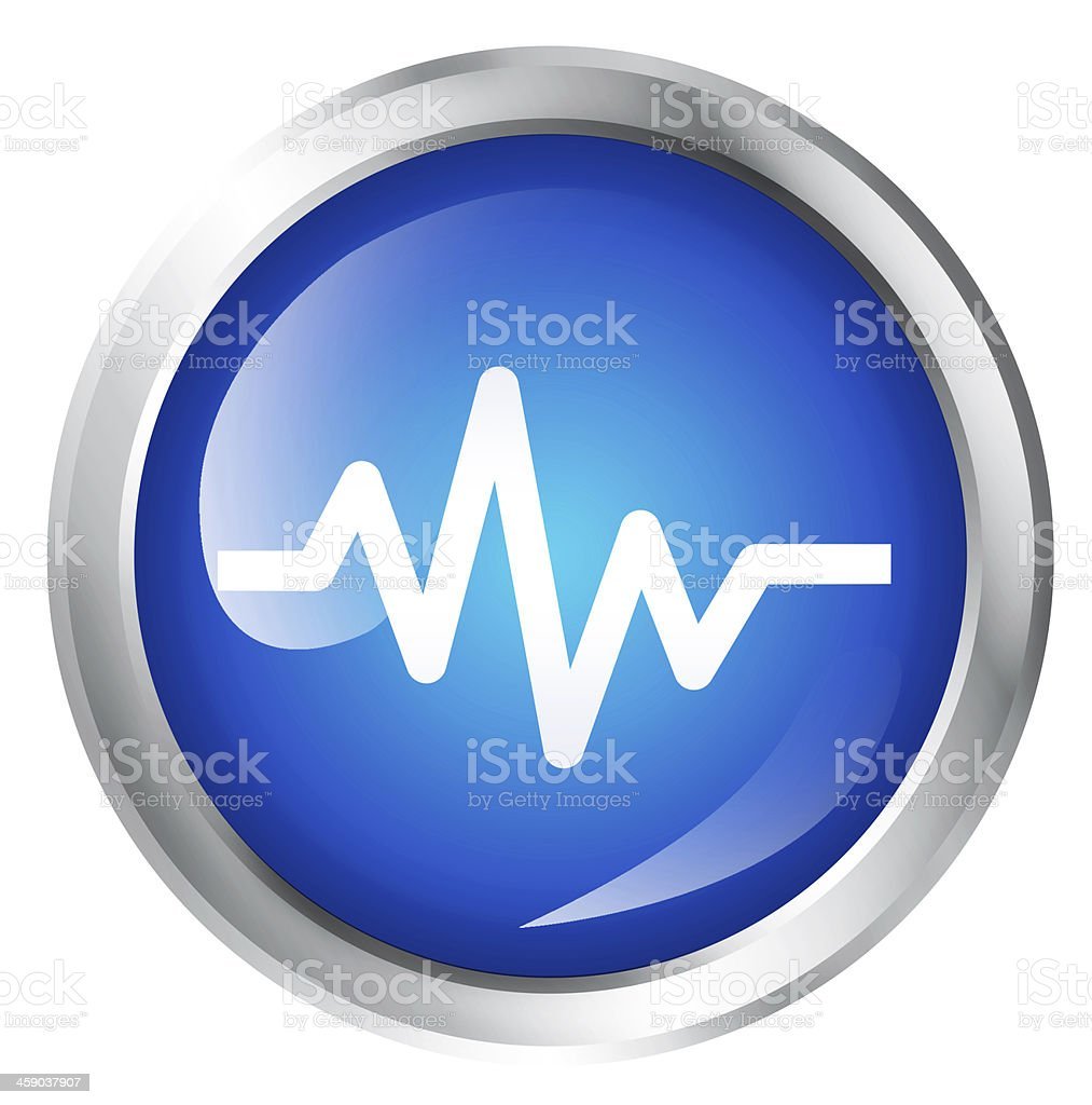Heartbeat icon stock photo