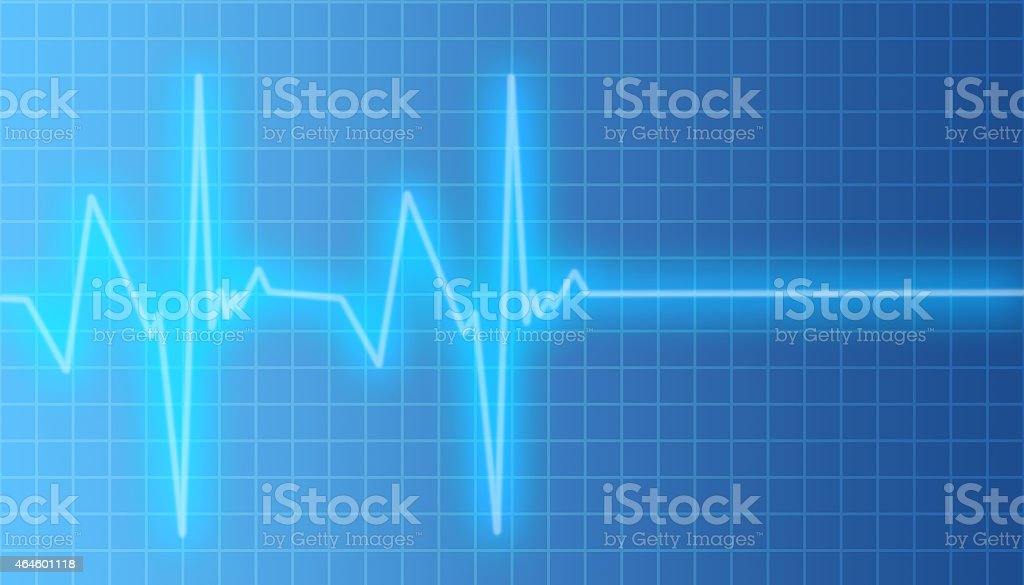 Heartbeat Pulsating to Flat Line stock photo
