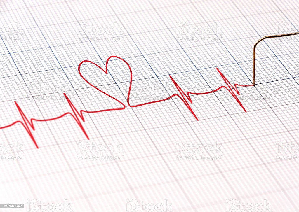 Heartbeat Pulse stock photo