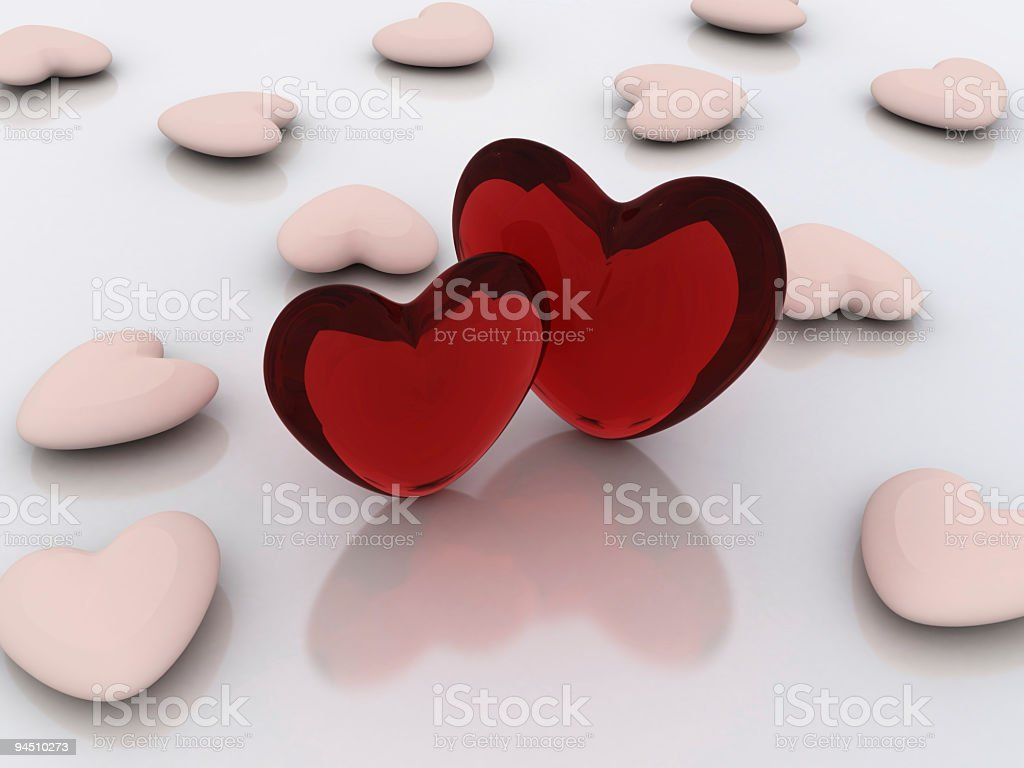 Heartbeats royalty-free stock photo