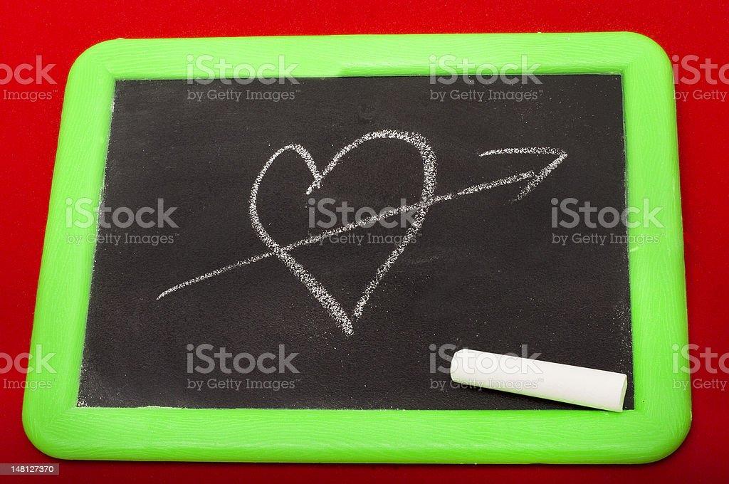 Heartbreak and Chalk royalty-free stock photo