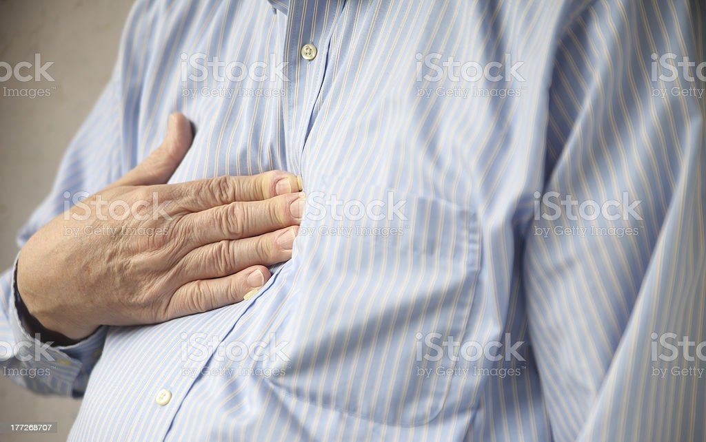 heartburn pain stock photo