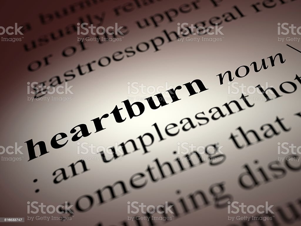 heartburn stock photo