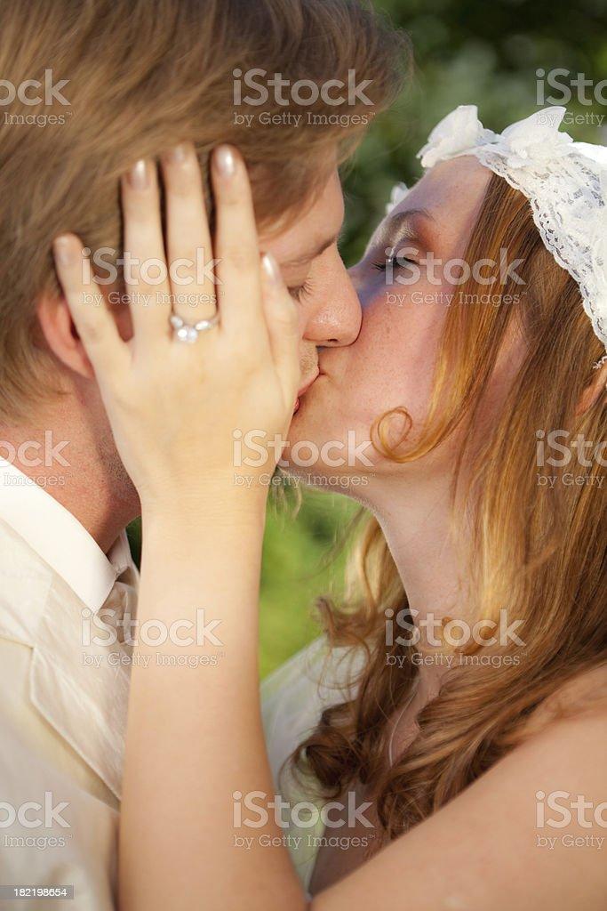 heartfelt kiss stock photo