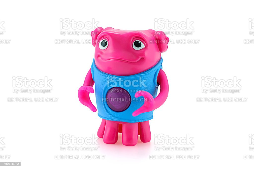 Heartfelt OH alien toy character from Dreamworks HOME animation stock photo