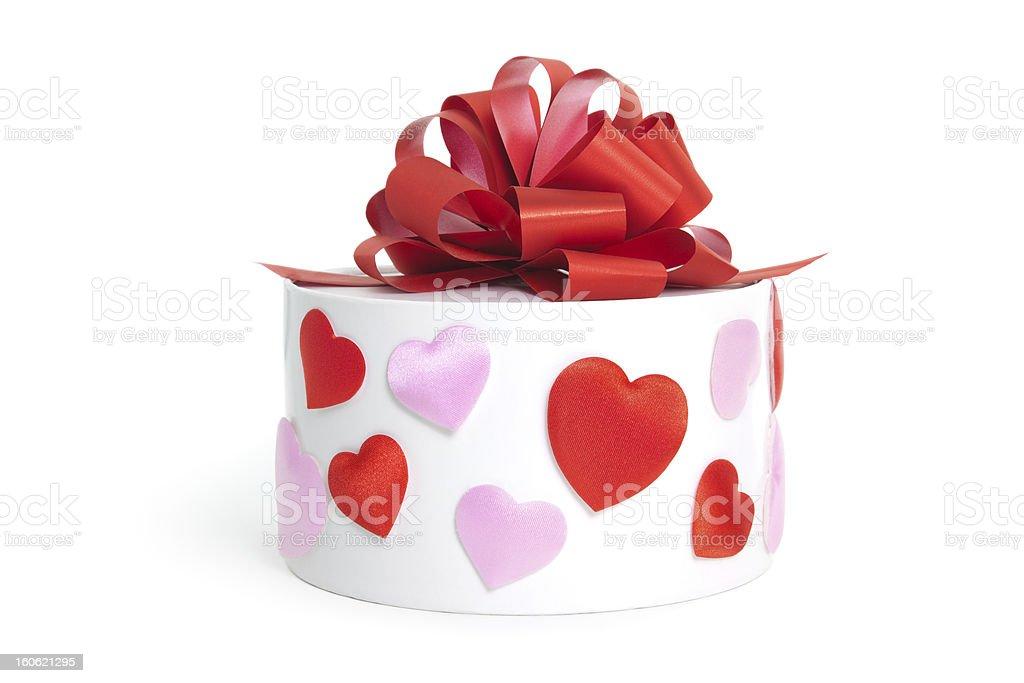 Heart&gift box royalty-free stock photo