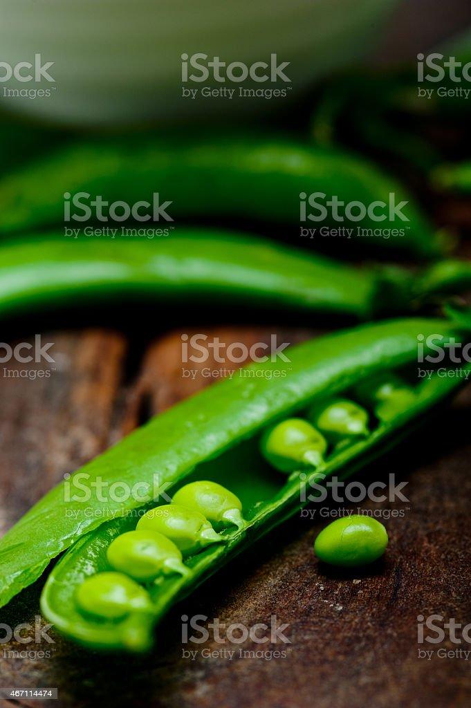 hearthy fresh green peas stock photo