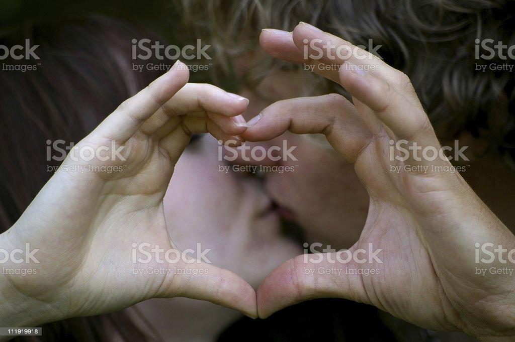 Heart-Kiss stock photo