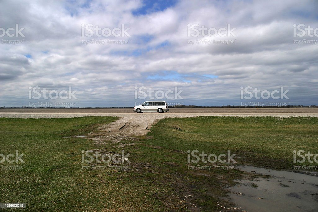 Heartland Landscape with Road royalty-free stock photo