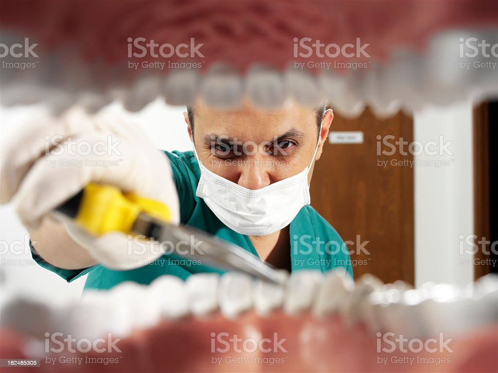 heartless dentist royalty-free stock photo