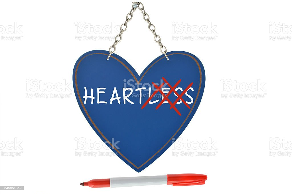 Heartless Heart Hanging stock photo