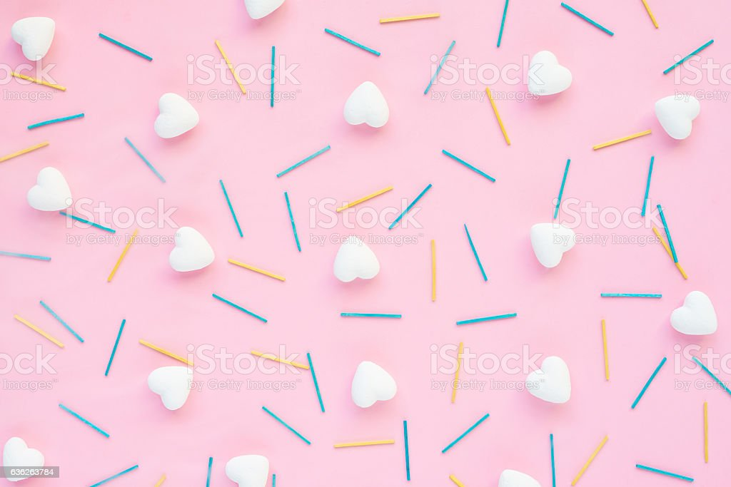 Hearts and matches stock photo