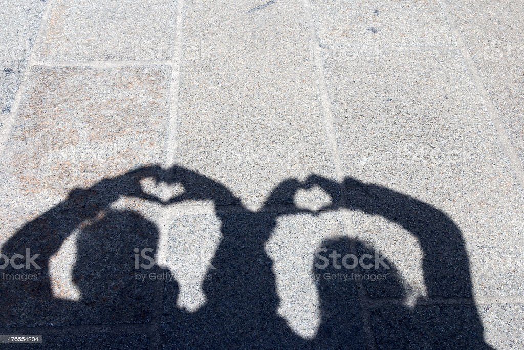 Hearts and shadows royalty-free stock photo