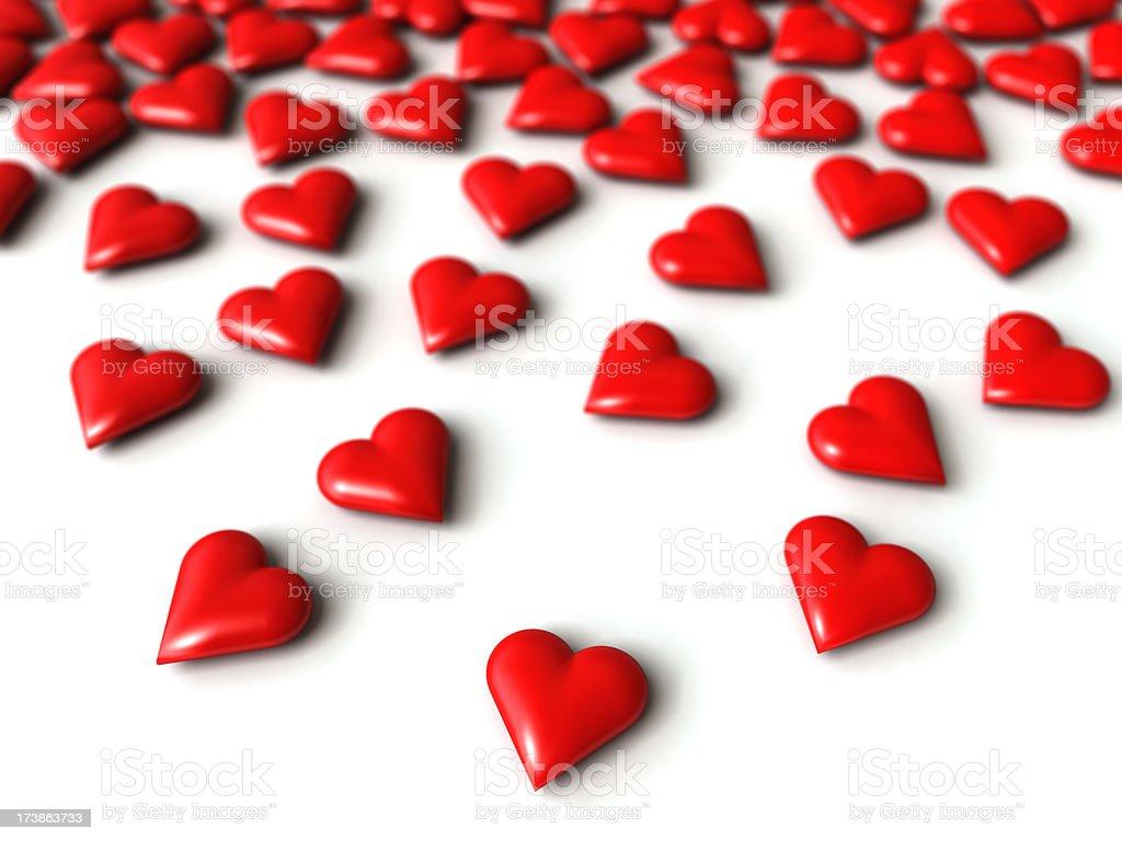 Hearts array stock photo