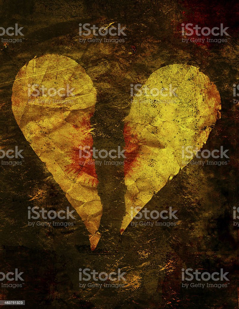 Hearts: Broken stock photo