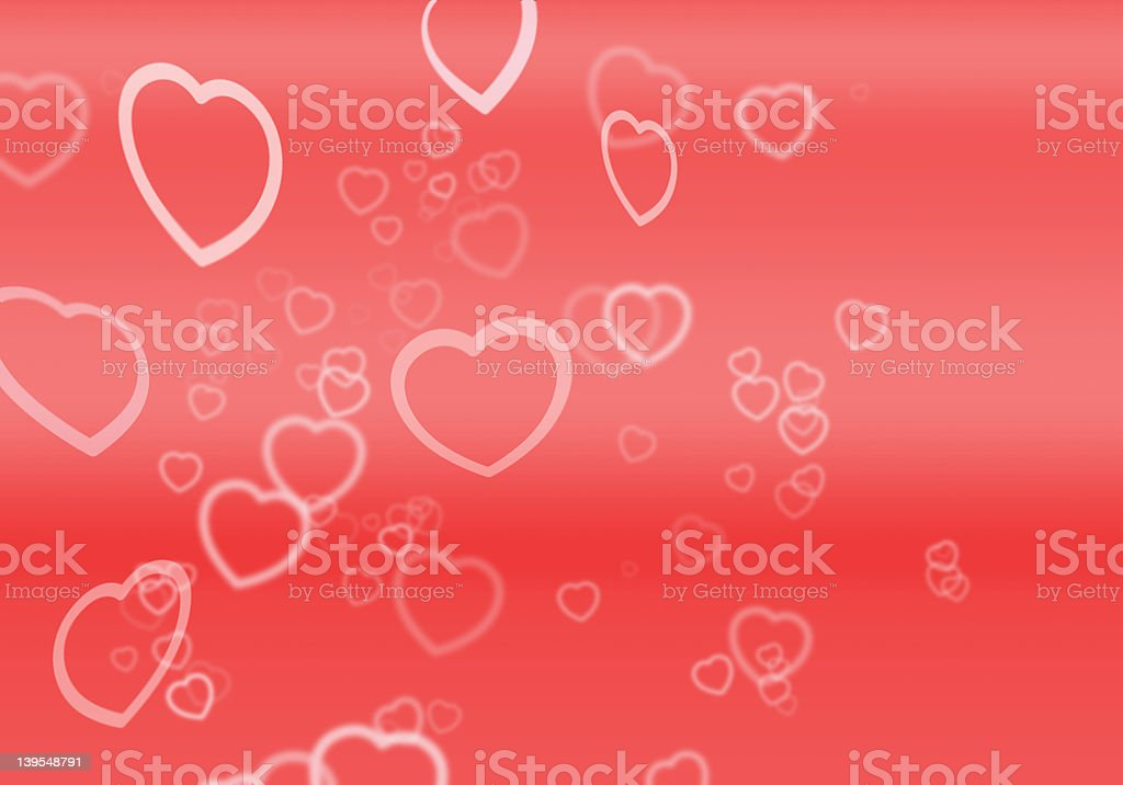 Hearts For Valentine's Day royalty-free stock photo