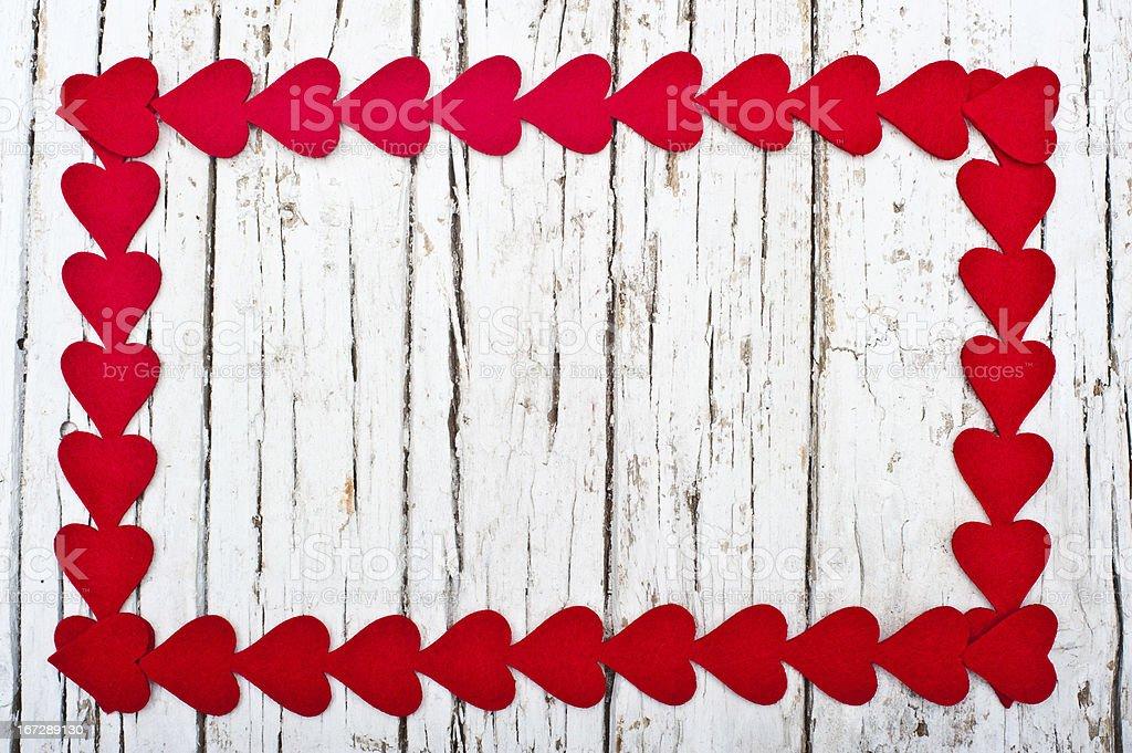 Hearts frame royalty-free stock photo