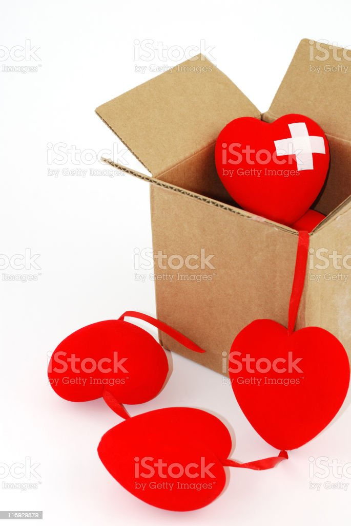 Hearts in the box royalty-free stock photo