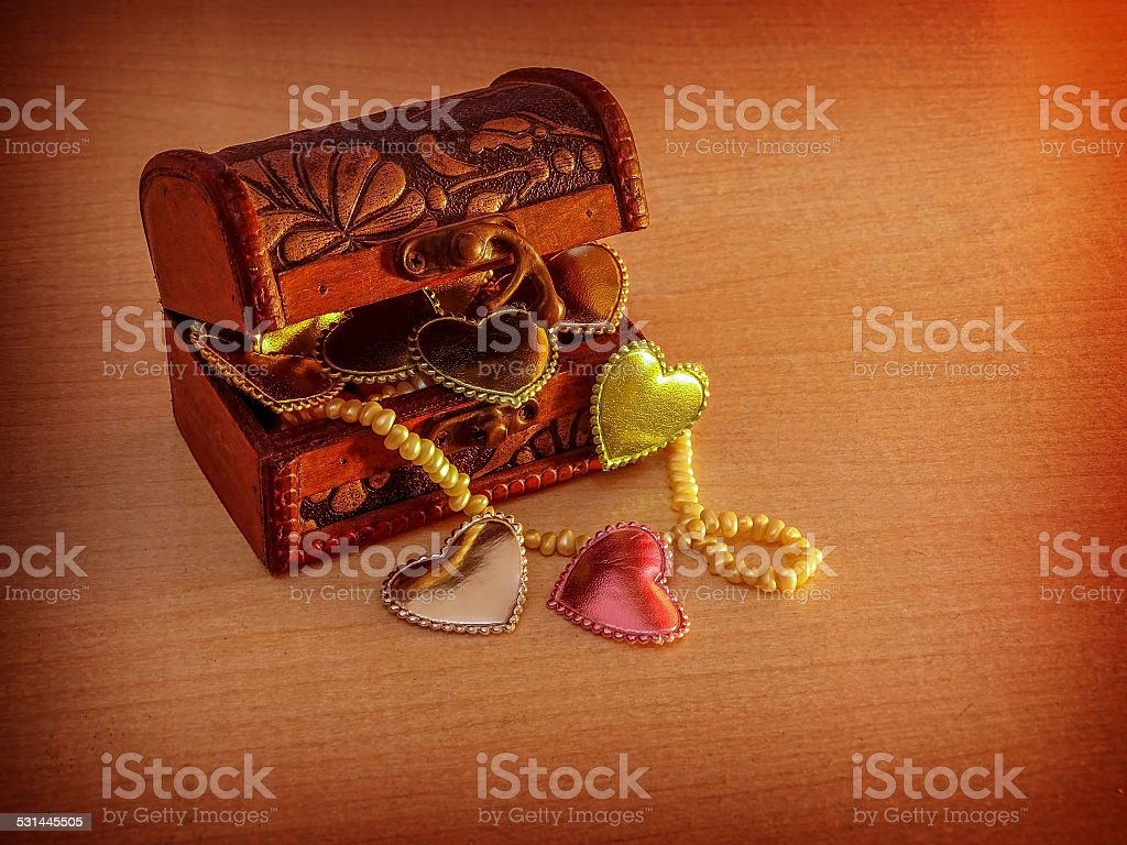 Hearts in the chest stock photo