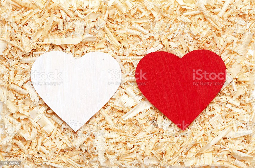 hearts in the sawdust royalty-free stock photo