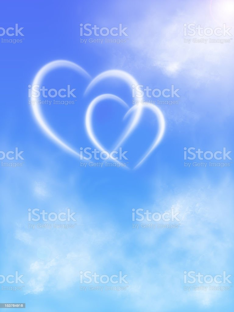 hearts in the sky royalty-free stock photo