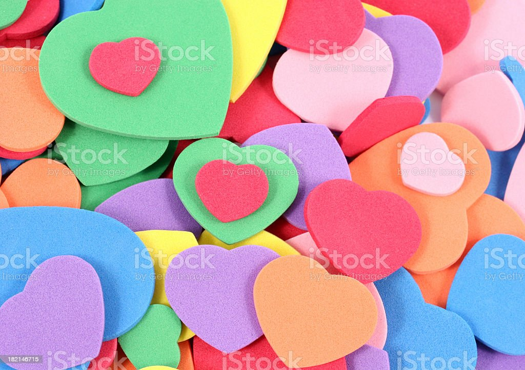 hearts of all colours and sizes royalty-free stock photo