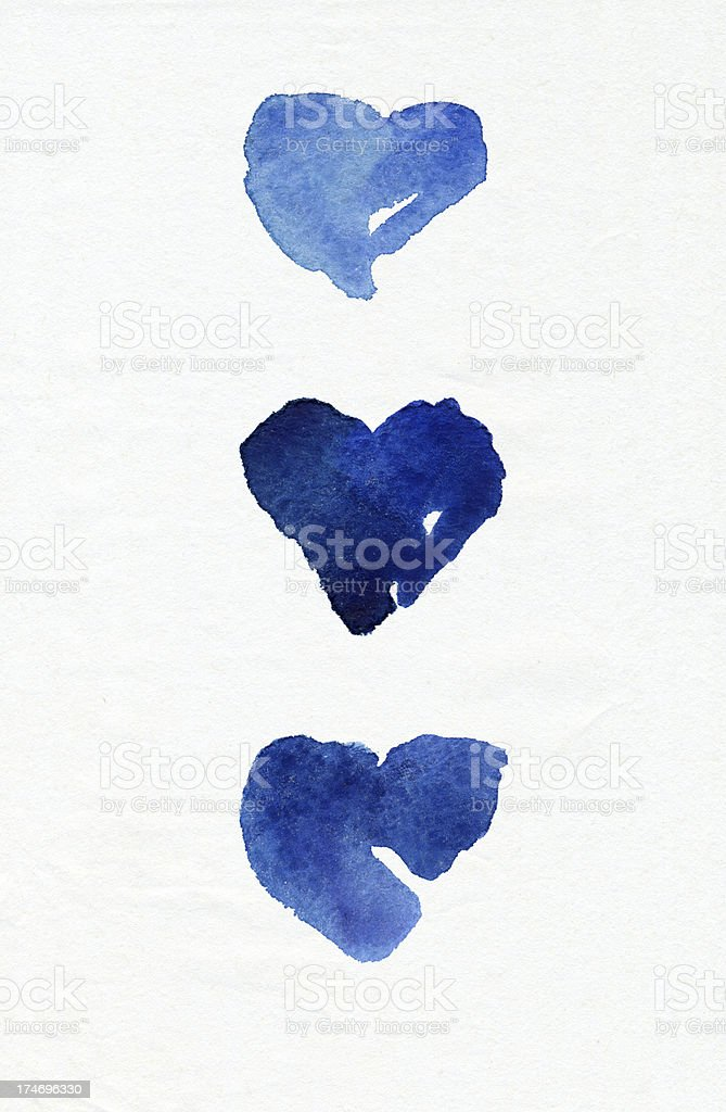 Hearts of blue stock photo