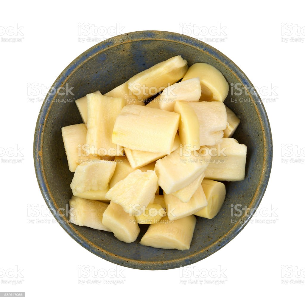Hearts of palm in bowl stock photo