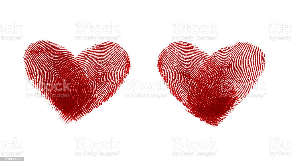 Hearts shape - fingerprint # 1 stock photo