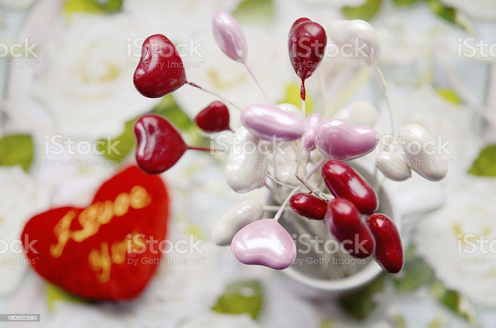 Hearts. Still-life lovers. royalty-free stock photo
