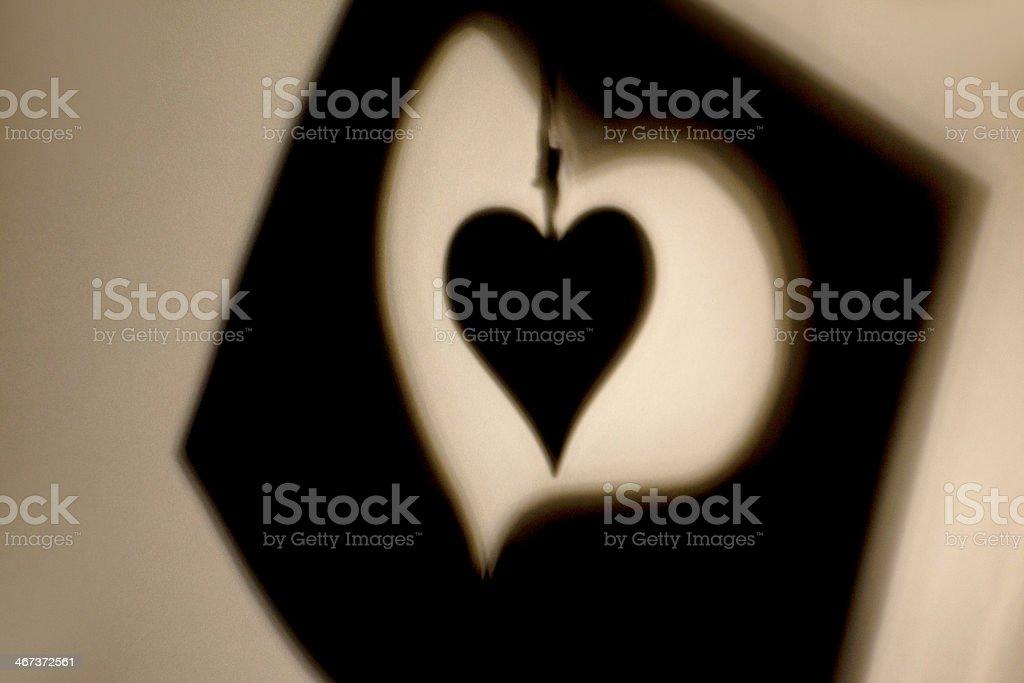 Hearts Symbols Shadows royalty-free stock photo
