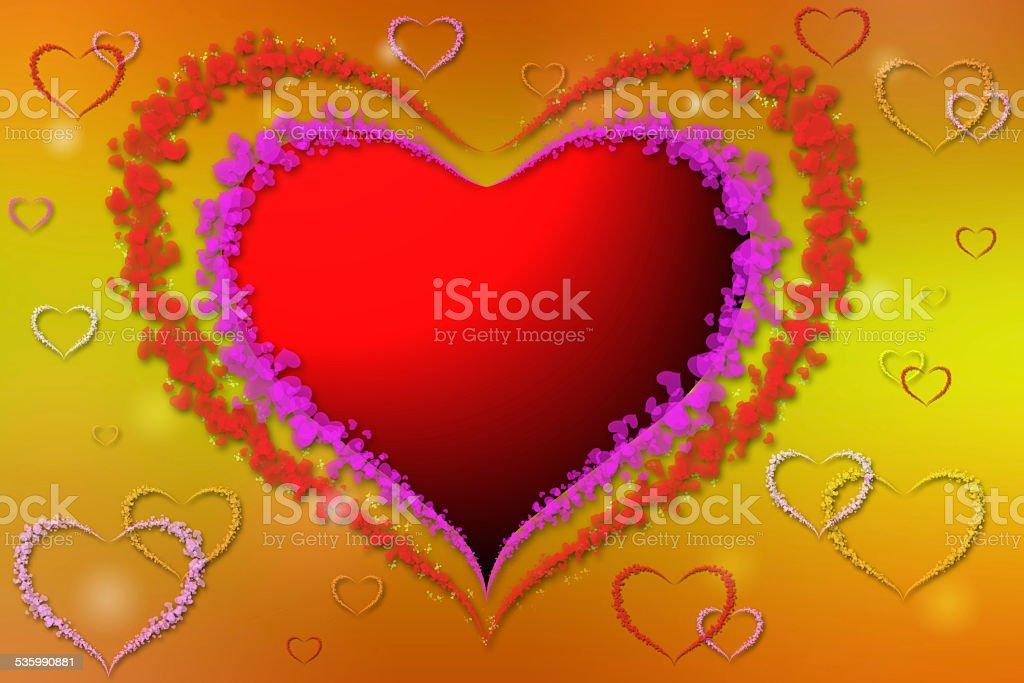 Coeur avec cœur de décoration photo libre de droits