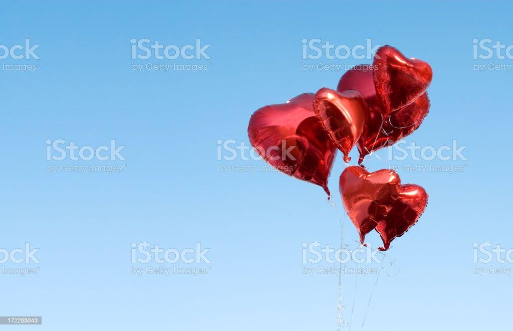 Hearts-balloons royalty-free stock photo