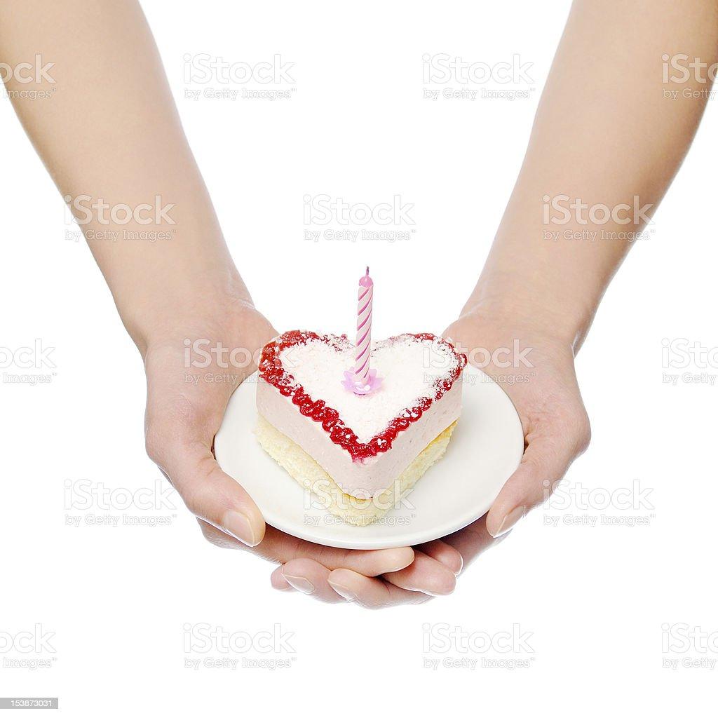 Heart-shape cake royalty-free stock photo
