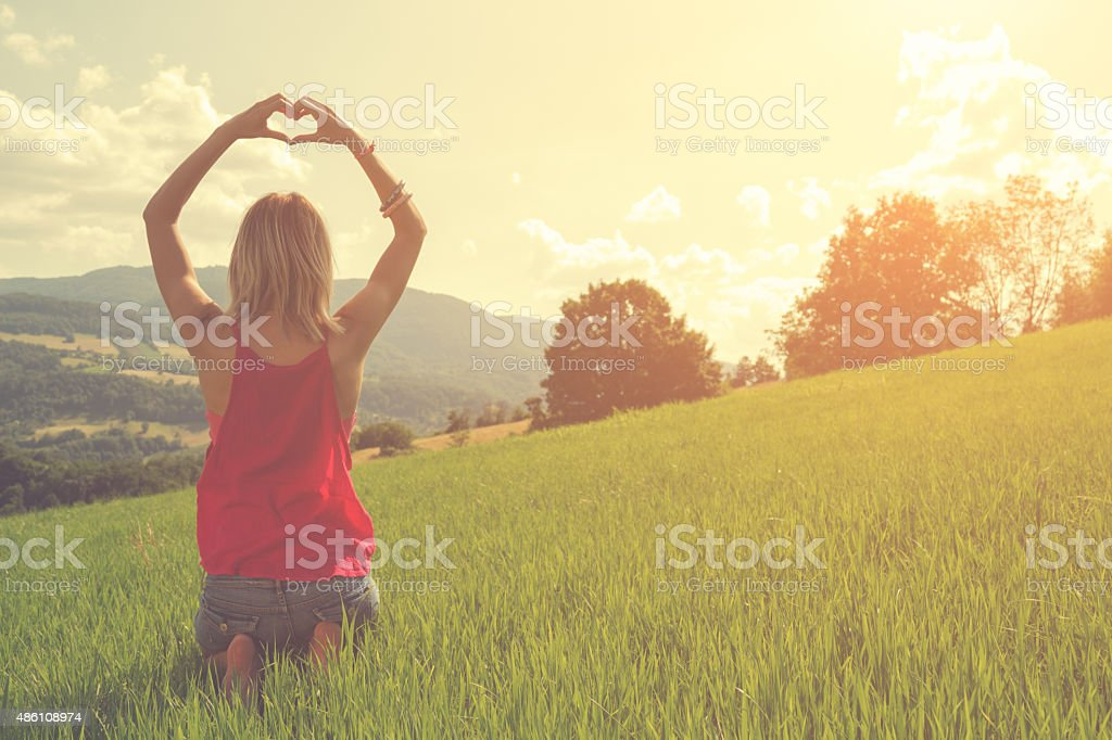 Heart-shape for the nature stock photo