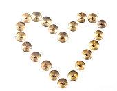 Heartshape push pins