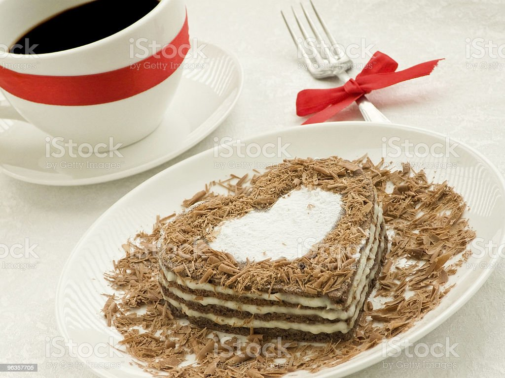 Heart-shaped cake royalty-free stock photo