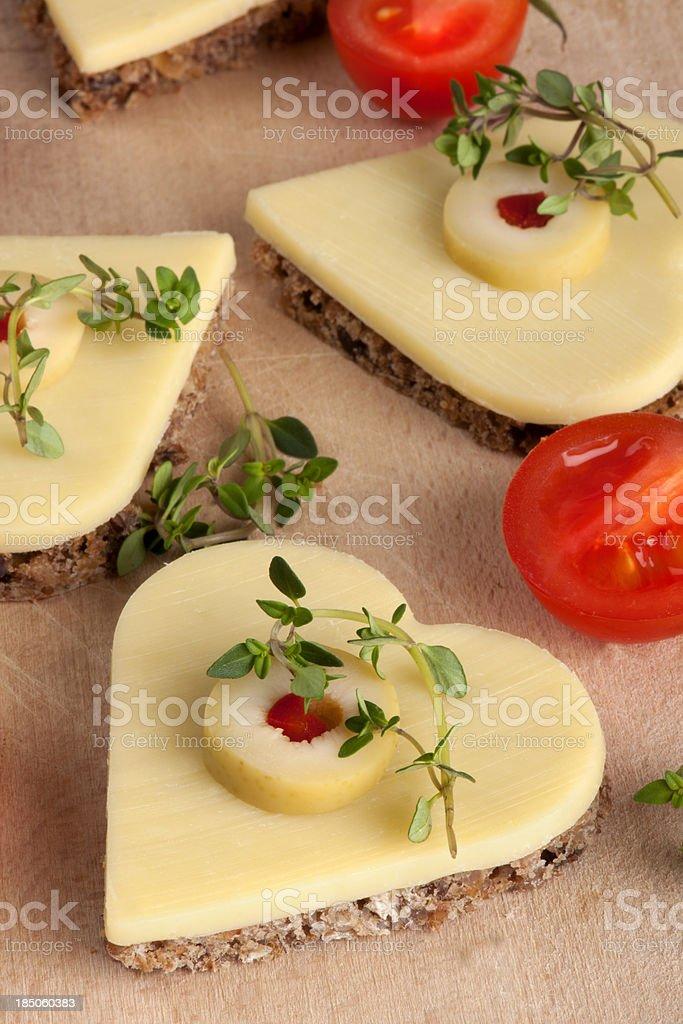 Heart-Shaped Cheeses royalty-free stock photo
