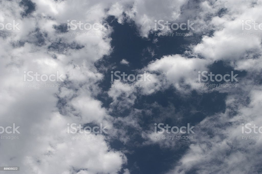 Heart-Shaped Cloud Formation, Inspirational, Pattern, Sky, Looking Up, Copyspace stock photo