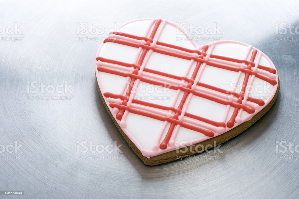 Heart-Shaped Cookie stock photo