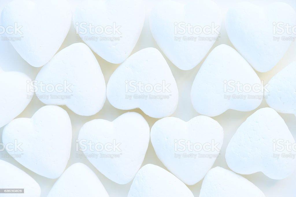 Heart-shaped decorations stock photo