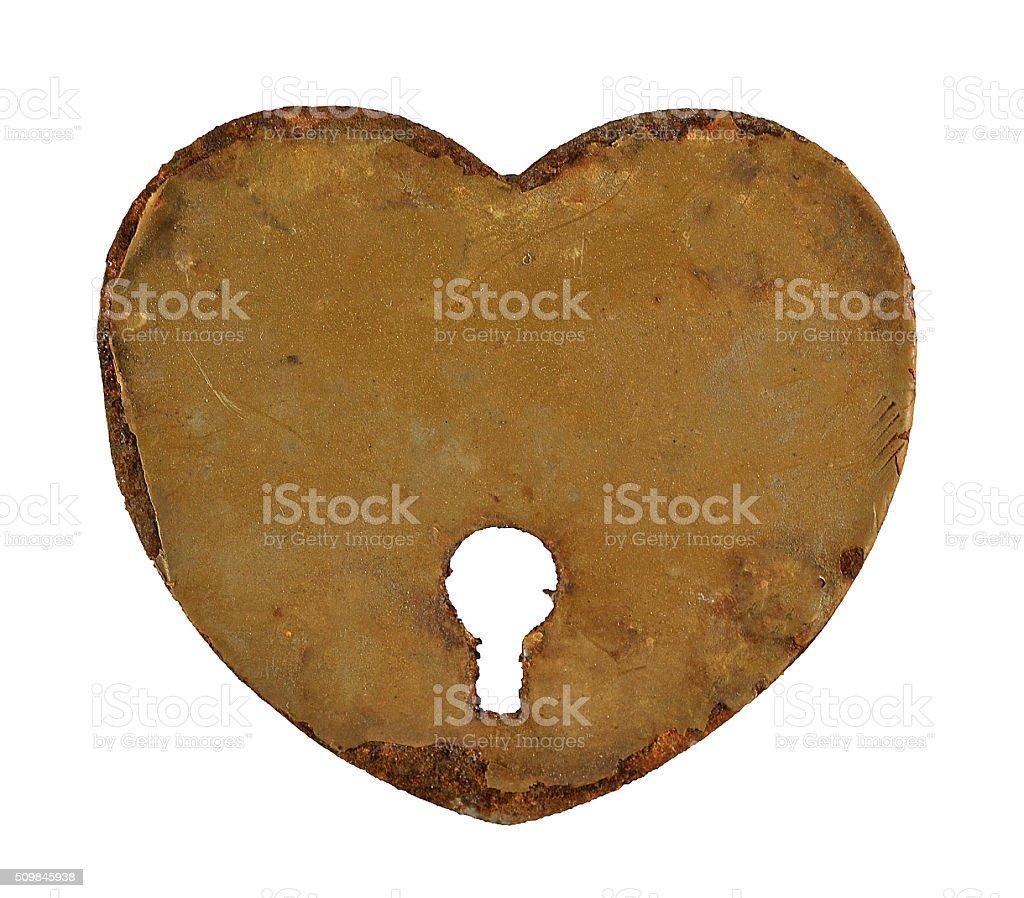 heartshaped keyhole stock photo