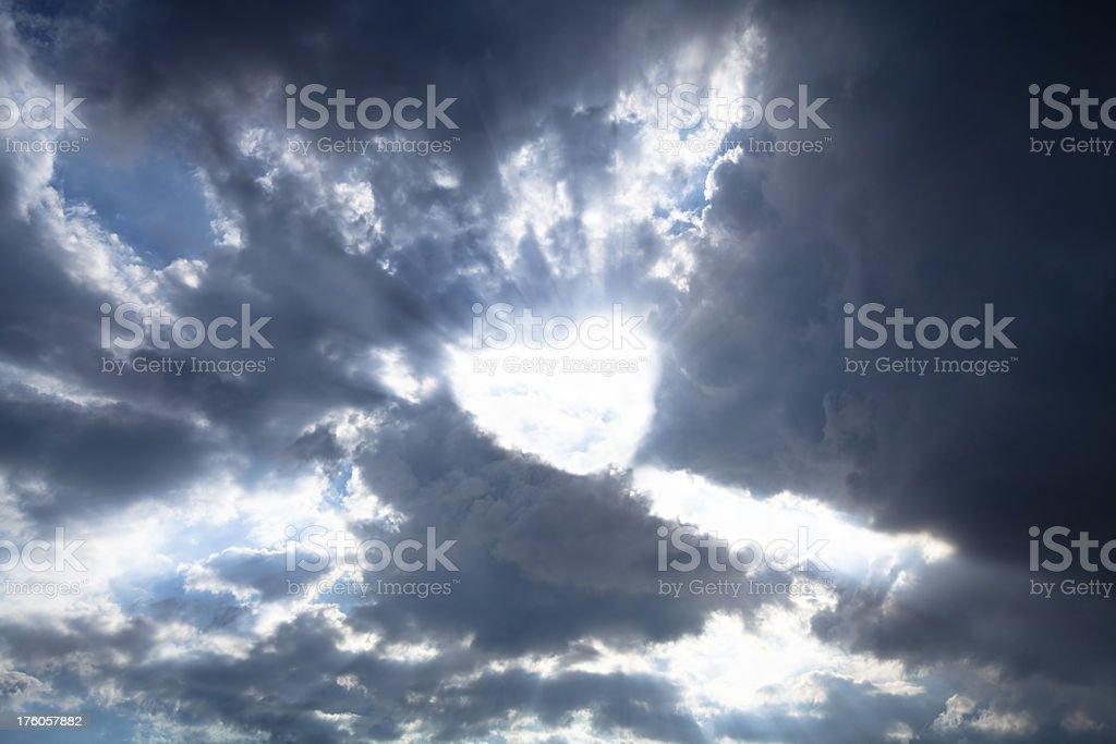 Heartshaped light royalty-free stock photo