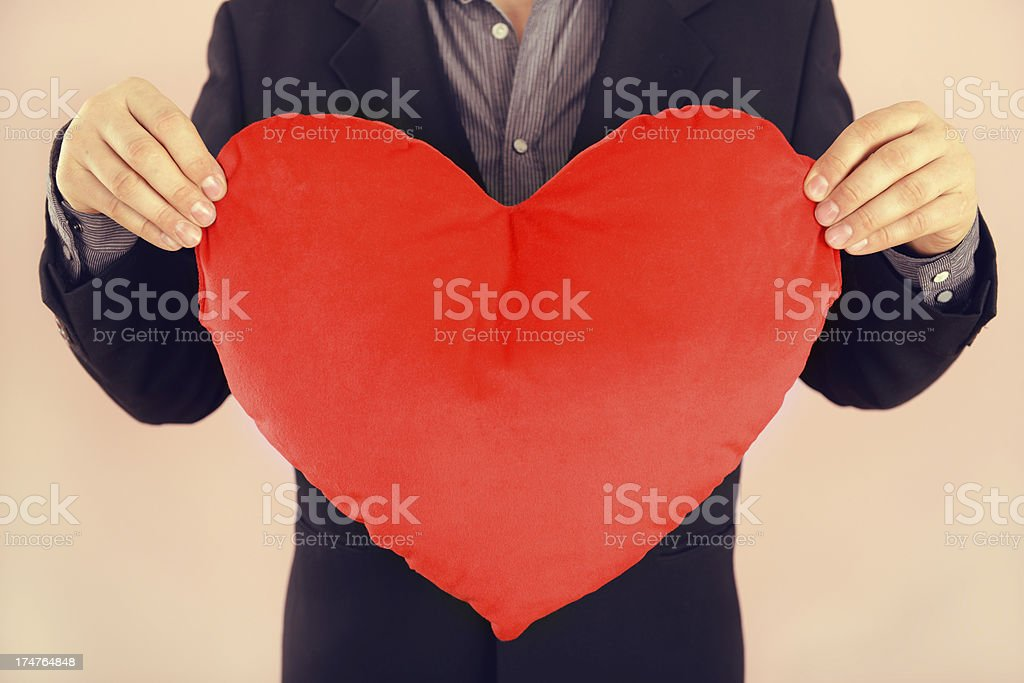 heart-shaped pillow royalty-free stock photo
