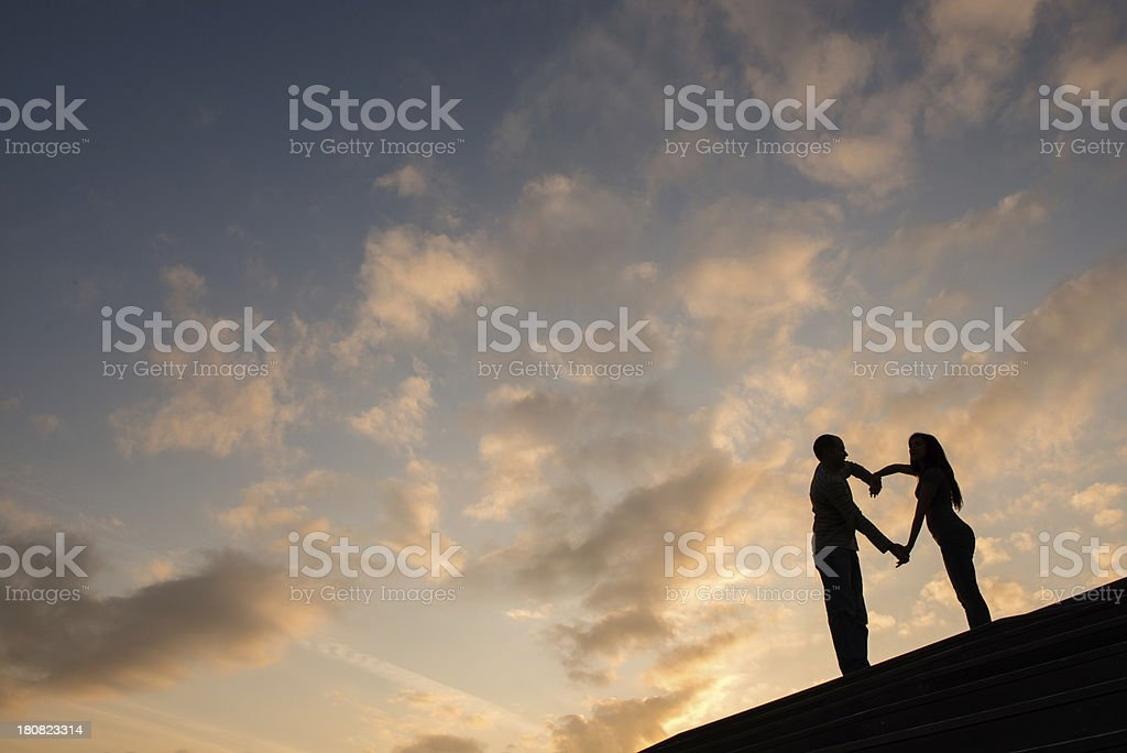 Heartshaped Silhouette royalty-free stock photo