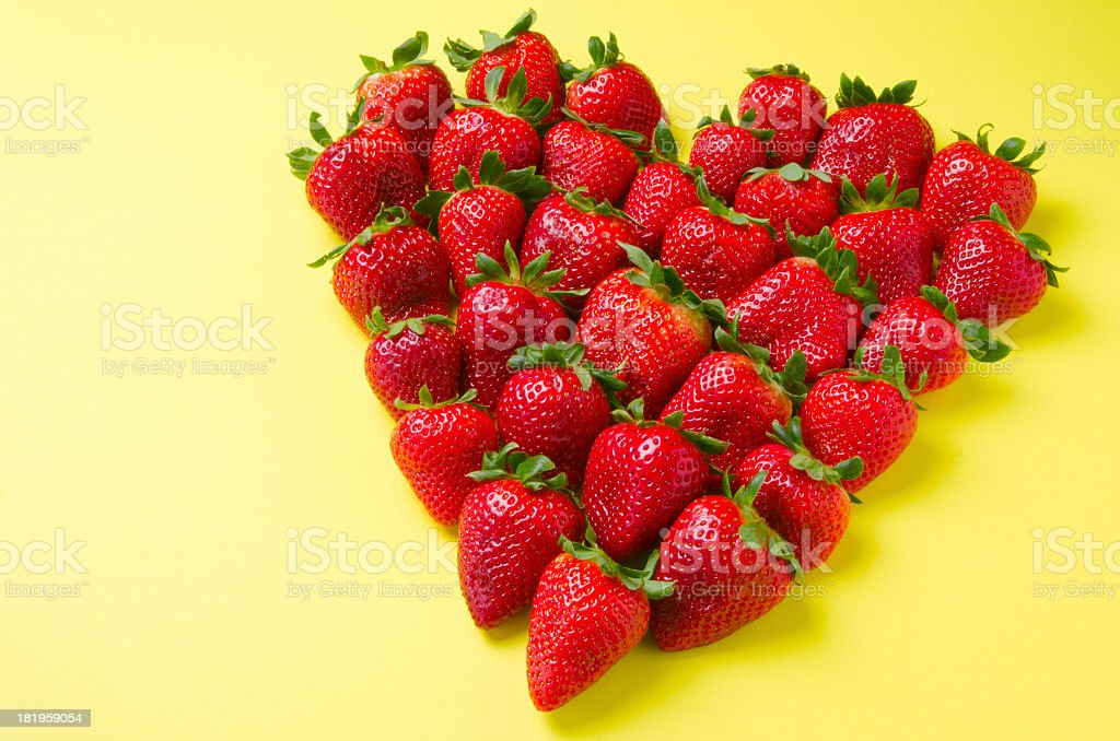 Heart-Shaped Strawberries royalty-free stock photo