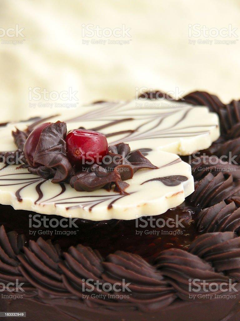 heart-shaped Valentine's Day cake royalty-free stock photo